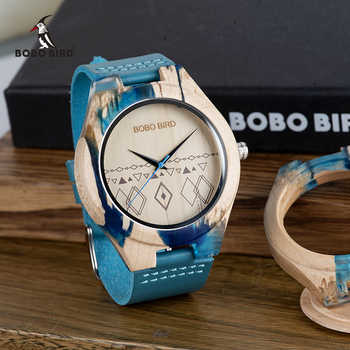 BOBO BIRD Men Watch Special Design Resin and Wooden Conbined Case Wooden Quartz Watches relogio masculino Accept Logo - DISCOUNT ITEM  29 OFF Watches
