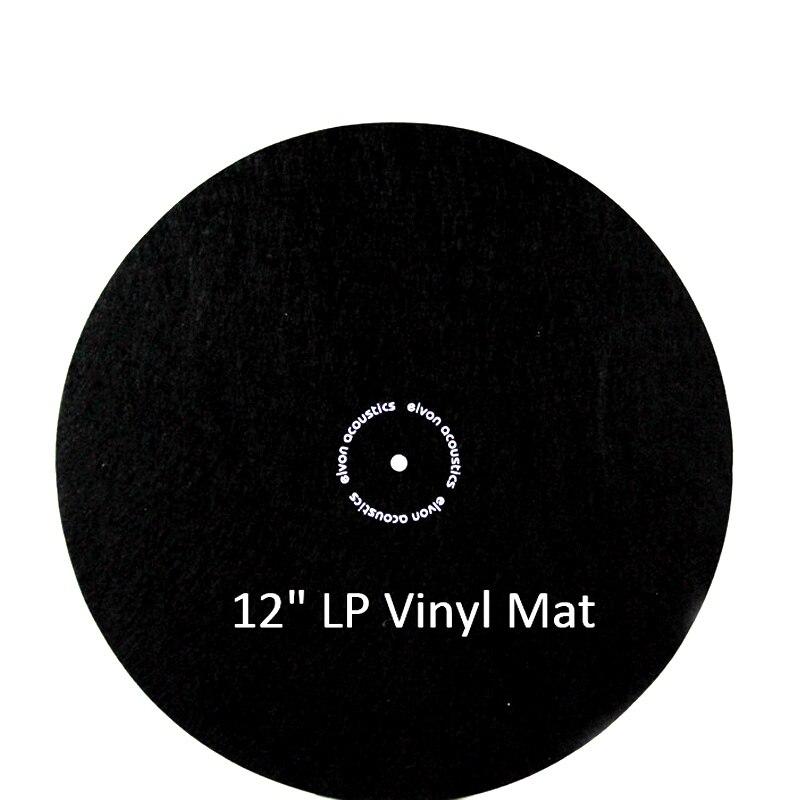 "12/"" Anti Static Felt Mat for Phonograph Turntable LP Vinyl Records Black 2mm"