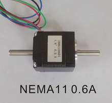 цена на 3pcs/Lot NEMA11 Dual Shaft Stepper Motor with 6N.cm 8.3 oz-in Length 33mm CE ROHS CNC Stepping Motor