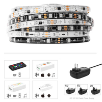 DreamColor LED Strip Kit 5m SMD 5050 RGB Lights Set Built in IC DC12V 150LED Strip with RF/APP LED Controller Sync To Music IP65