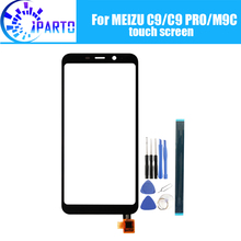 For Meizu C9/C9 PRO Front Glass Screen Lens 100% Original Front Touch Screen Glass Outer Lens for Meizu M9C 5.45 inch+Tools
