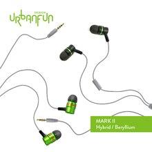 Big sale MARK II_URBANFUN Flagship simpler Version 3.5mm HiFi  Beryllium/Hybrid  Earphone  with Microphone  Free Shipping  BM-1