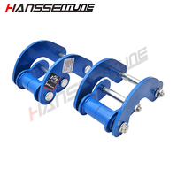 HANSSENTUNE 4x4 Suspension Spring Rear Comfort Double G Shackle for Mitsubishi Triton L200 09 14 reduce the bumpy feeling