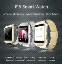 Smartwatch Android Wifi Surfen, Eingebauten Android 4.3 System, Telefonieren, Stext Nachrichten, Synchronisation Zeit, Wetter, Foto kamera