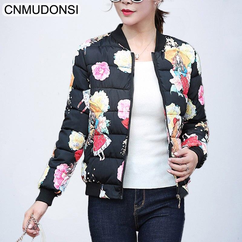CNMUDONSI Winter Jacket women 2018 autumn fashion Outerwear Womens Parkas Winter Coat Short Female Slim Cotton padded basic tops
