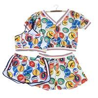 4 In 1 Set High Quality Sport Girl Sexy Plus Size Bikini Swimwear With Beach Shorts
