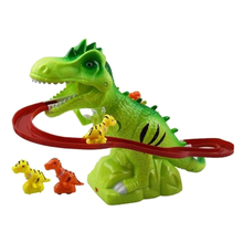 Buy Children Electric Tracks Climb Stair Dinosaur Toys Glowing With Sound Kid Toy Animals Model Interactive Toys directly from merchant!