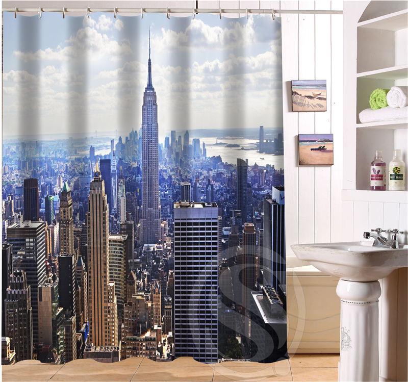 Custom Waterproof Bath Curtain New York City Waterproof Shower ...