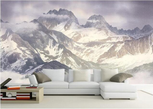 Home Improvement Custom 3d Wallpaper For Walls 3 D Wall Murals Wallpaper Hd Plateau Snow Mountain Scenery Background Wall Paper 3d Wall Decor Latest Fashion