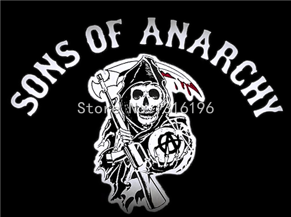 Original Sons Of Anarchy Embroidery Twill Biker Patches For Jacket