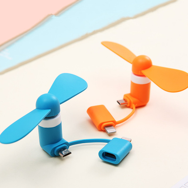 2-in-1 Mini Cell Phone Fan for iPhone/iPad and Android 5