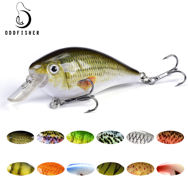 Mini Crankbait Fishing Lures Topwater Wobbler Isca Artificial Hard Bait 6cm 12.8g Minnow Swimbait Trout Bass Carp Fishing Tackle