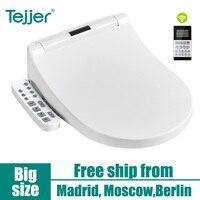 Tejjer маленький кит стиральная интеллигентая (ый) Температура умная крышка для унитаза сиденье с светодиодный ночник IPX4 Водонепроницаемый