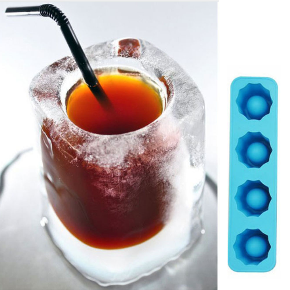 Hot Sale Ice Cube Tray Mold Ice Mould Makes Shot Glasses Ice Mould Bar Party Drink Freeze Mold Summer Drinking Tool
