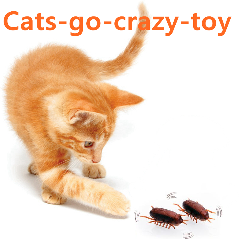 [mpk Store] Battery-powered Cockroach & Mouse Toy For Cats, Electronic Cockroach, Fun Cat Toy