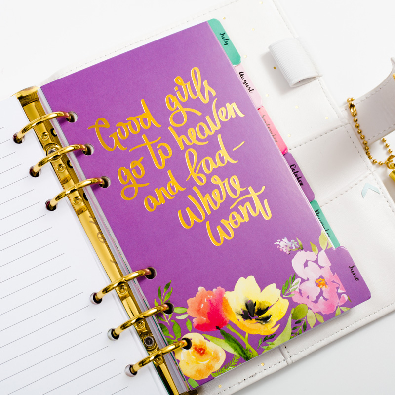 Dokibook Flower Series Spiral Planner Filler Papers Notebook Inner Core Schedule Weekly Plan Diary Refill For Filofax Notebook