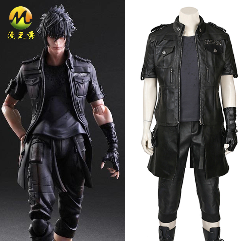 Game Cos <font><b>Final</b></font> <font><b>Fantasy</b></font> <font><b>XV</b></font> <font><b>Noctis</b></font> Lucis Caelum Cosplay Costume FF15 <font><b>Noctis</b></font> Lucis Caelum Cosplay Suit For Halloween Party Show image