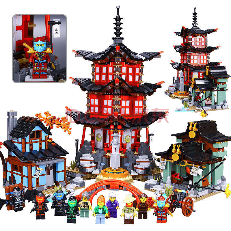 Compatible Ninja LegoINGys 70751 Lepin 06022 blocks Ninja Figure Temple of Airjitzu toys for children building blocks 70603 ninja temple model building blocks 06022 2150pcs assembly block toys for children ninja figure bricks compatible with legoinglys
