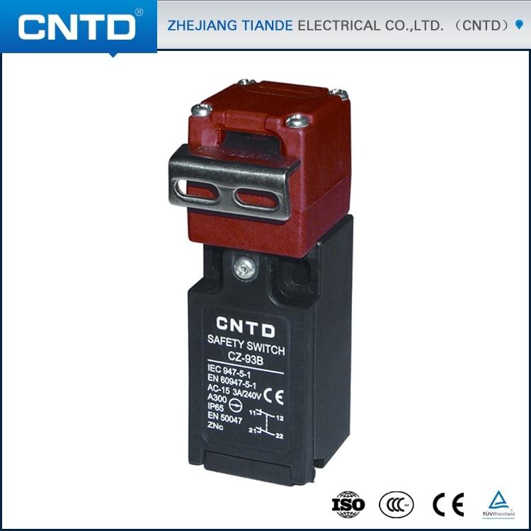 CNTD Waterproof CZ-93 Series 2NC Safety Interlock Limit Switch with Key 15A 250V (CZ-93B) limit safety fixing ring position limit ring manual position limit
