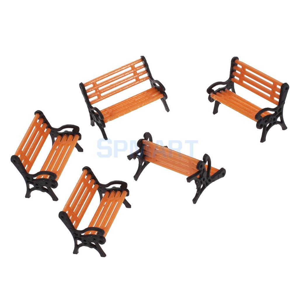 Outstanding Us 3 6 25 Off Magideal 5Pcs Pack 1 75 Scale Plastic Model Park Bench Model Building Yard Garden Street Scene Layout Landscape Children Toys In Model Caraccident5 Cool Chair Designs And Ideas Caraccident5Info