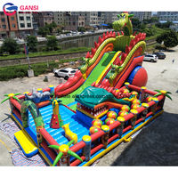 17*11*8m large dragon mascot inflatable fun city factory price bouncer castle customized printed jumping castle inflatable