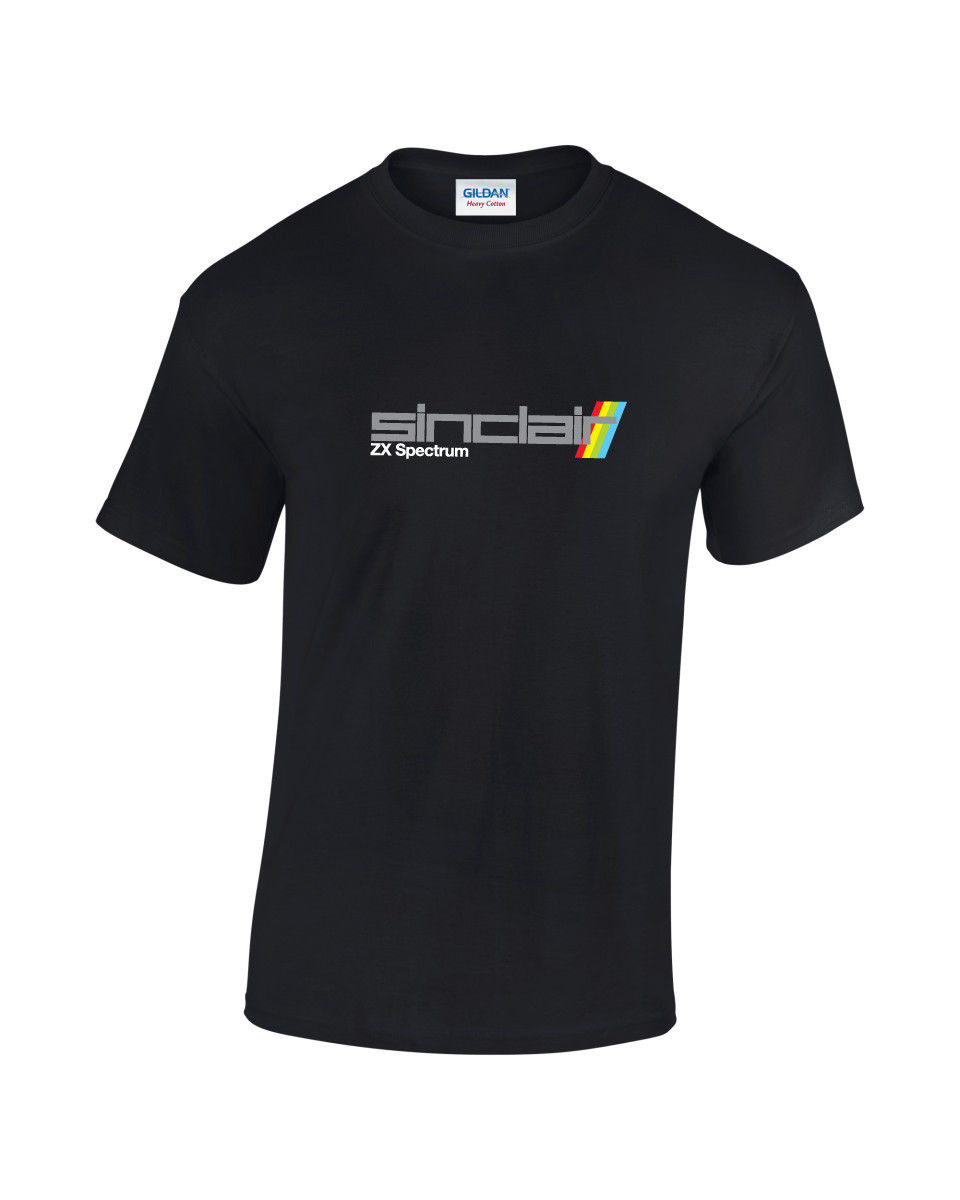 Mens Fashion Cotton T-Shirts ZX Spectrum Retro Computer Video Gaming T-Shirt