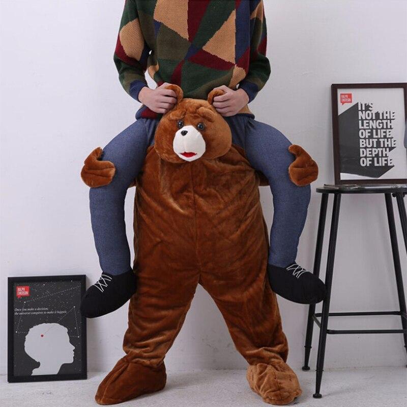 Pantalon magique fête habiller monter sur moi mascotte Costumes transporter nouveauté jouets Halloween fête Fun fausse jambe Cosplay Costume