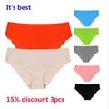 Настоящее Новый Ультра-худых Женщин лучших Бесшовные Traceless Сексуальное женское белье Underwear Трусики Трусы плюс Размер ЕС