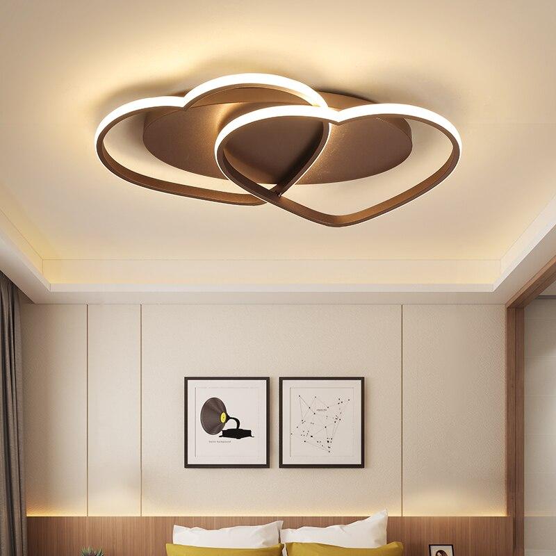 White/Brown Modern Deco Ceiling Lights For Living room Bedroom Home Lighting Fixtures AC85-265V Ceiling Lamp lamparas de techoWhite/Brown Modern Deco Ceiling Lights For Living room Bedroom Home Lighting Fixtures AC85-265V Ceiling Lamp lamparas de techo