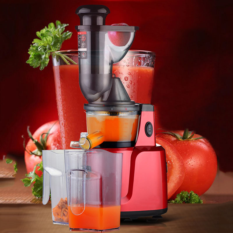 Slow Juicer Orange : Free shipping 300W 75mm big mouth Juicer automatic orange juice machine electric slow juicer ...