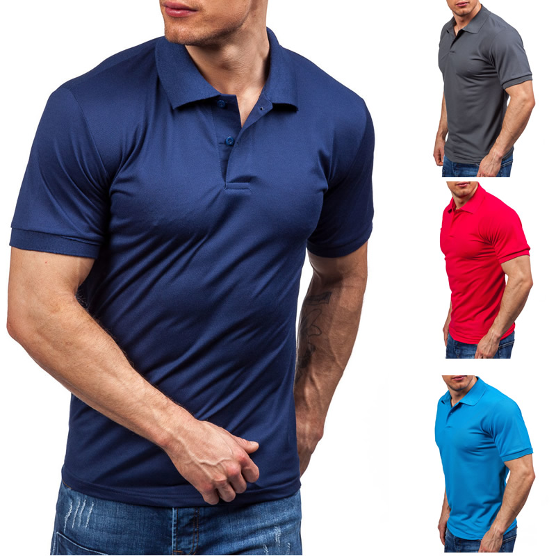 ZOGAA Men   Polo   Shirt New 2019 Top Men's Business Casual Silm Fit Solid   Polo   Summer Style Cotton   Polos   Homme Mens Clothing