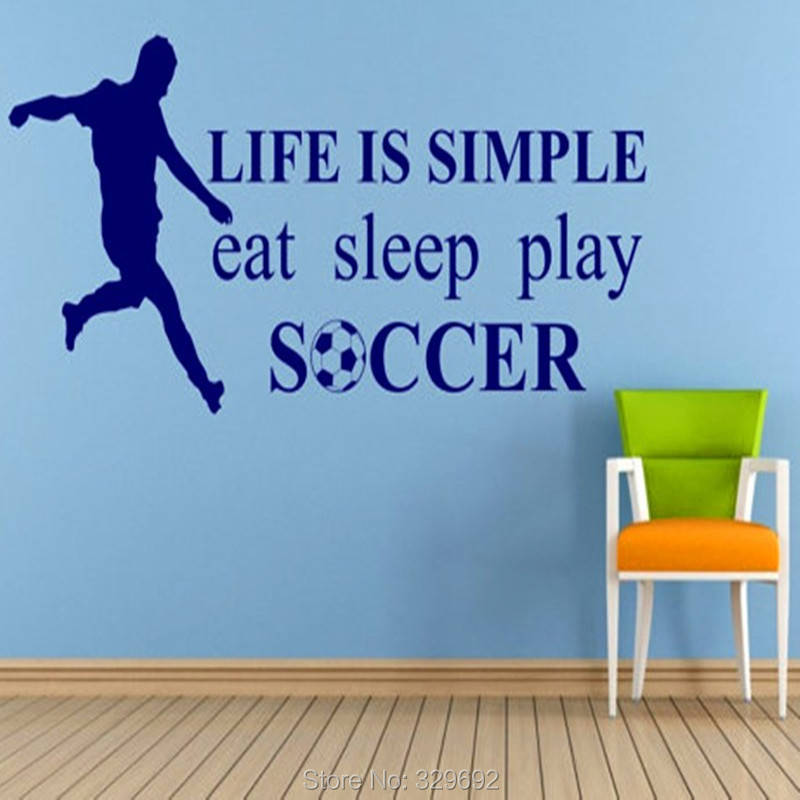 Soccer Player And Words Wall Sticker