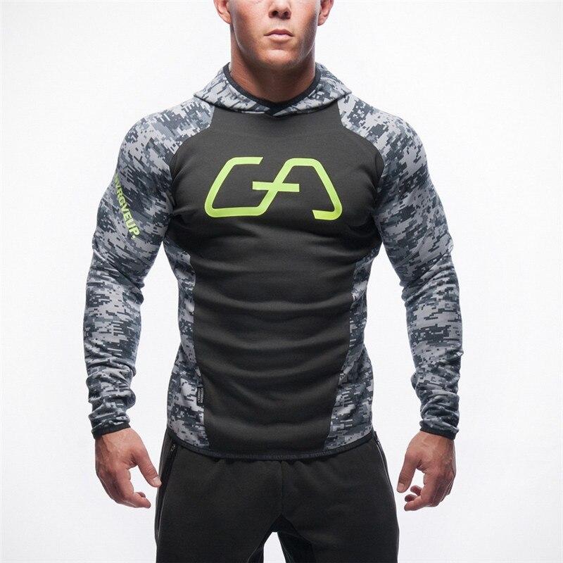 2016 Gymshark Hoodies Hombre Coat Bodybuilding And Fitness Hoodies Sweatshirts Muscle Men S Sportswear