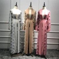 Plus Size Blusas Mujer De Moda 2019 Abaya Muslim Women Long Lace Mesh Maxi Kimono Cardigan Blouse Ropa Turkish Islamic Clothing
