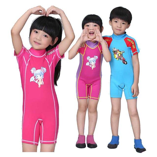 Premium 2mm de neopreno + Lycra niños traje de juventud de baño erupción  para niño nadar a0cc72a5b9b