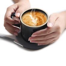 Qi Kupa Kablosuz Şarj Kupa, 2 in 1 Kahve Fincan, 55 Derece kupa ısıtıcı, akıllı Sabit Sıcaklık Isınma Fincan Şarj