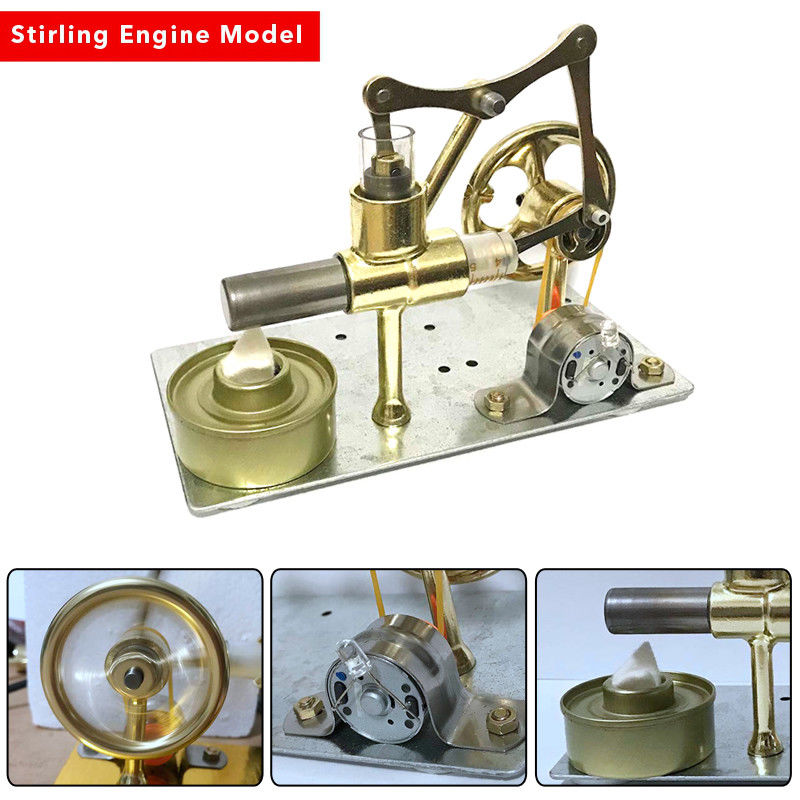 New Teenager Physics Lab Single Cylinder Balance Stirling Engine Model Science DIY Model Toy Gift For Kids Experimental Toy Boys