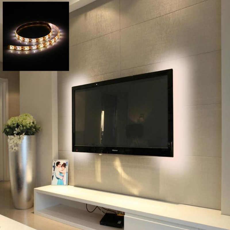 LED רצועת מנורת USB DC5V גמיש LED רצועת אור קלטת סרט 1M 2M 3M 4M 5M HDTV טלוויזיה שולחן עבודה מסך תאורה אחורית הטיה תאורה