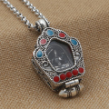S925 sterling silver jewelry Nepal GAU box vintage Thai silver pendants ladies to Tibetan Tantric wangfo necklace pendant