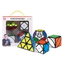 QIYI 12-sides Skew Lvy необычный кубик куб головоломка набор черный Professional Cubo Magico игрушки для детей Дети с подарочной коробкой