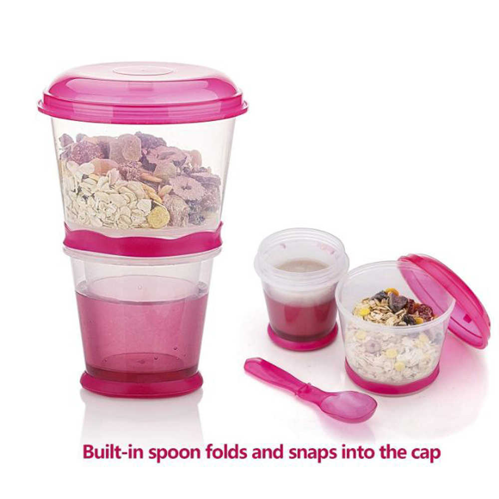 Image result for Breakfast Travel Cup With Foldable Spoon