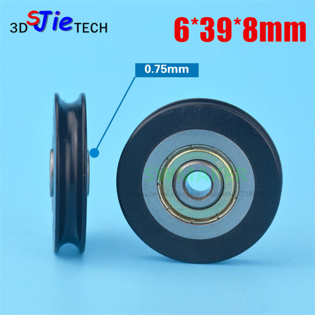 10pcs 6*39*8mm shift door pulley, concave wheel U groove, wire rope ...