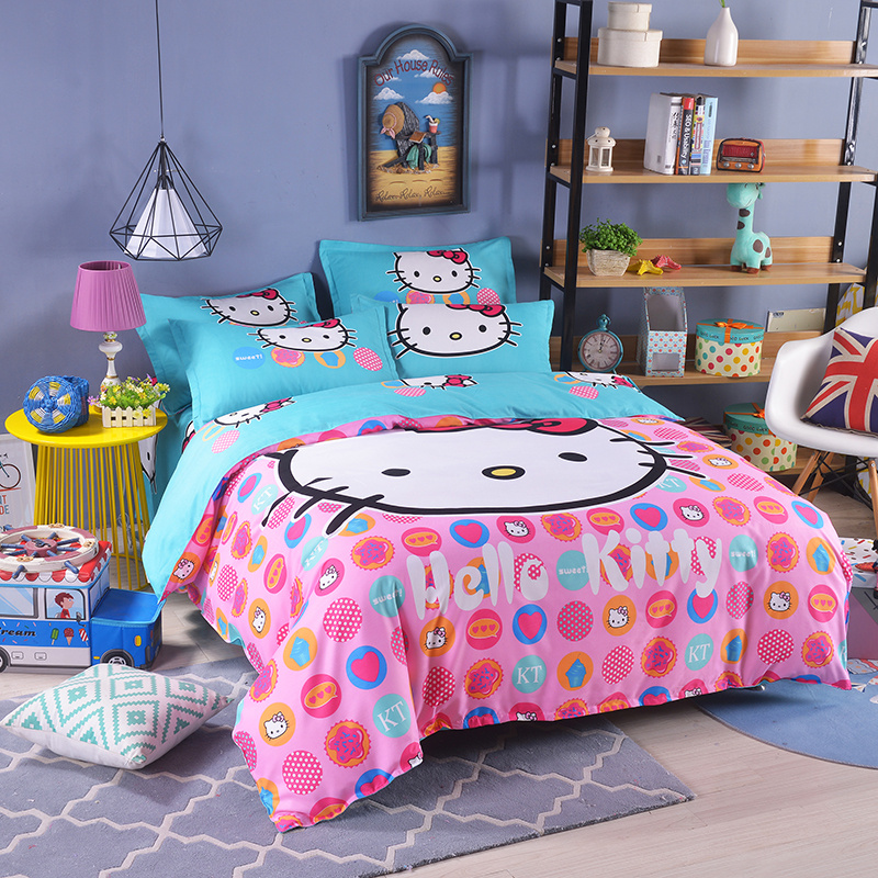 UNIKIDS Cute cartoon duvet cover set bedding set for Kids boy or girls Twin size KT008