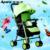 La APA ultra portátil plegable paraguas coche cochecito de bebé de verano los niños BB cuatro ronda puede sentarse mentira de embarque