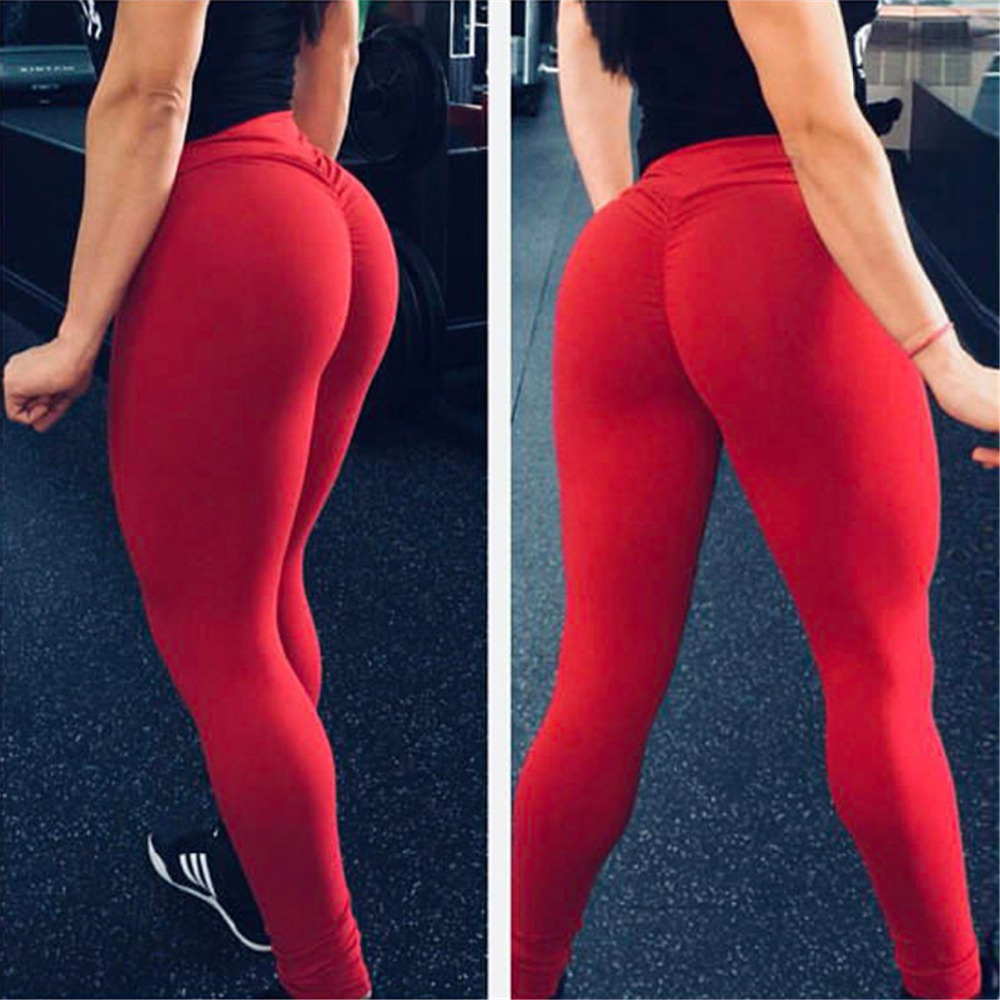 Fashion Breathable Solid High Waist Push Up Leggings Women Sexy Workout Legging Femme Highly Elastic Classic Trousers  7 Color