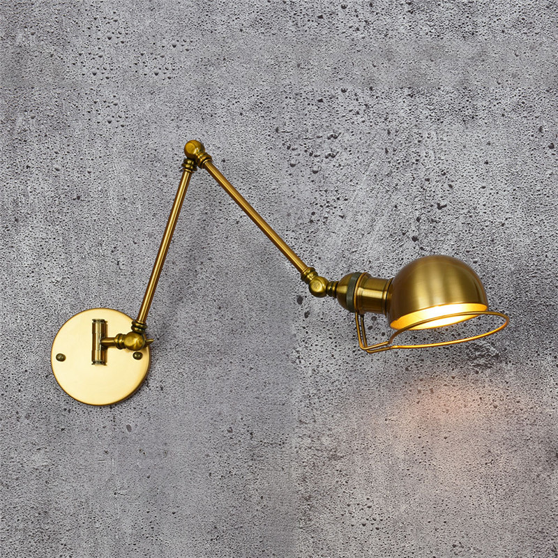 American Loft Style Industrial Vintage Wall Lamp Fold Edison Wall Sconce Adjustable LED Wall Light Fixtures Indoor Lighting america rope vintage wall lights fixtures in style loft industrial wall lamp edison wall sconce wandlamp lamparas aplik