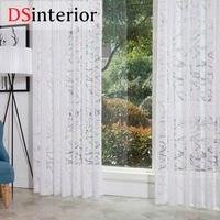 DSinterior moderno estilo burnout cortina sheer