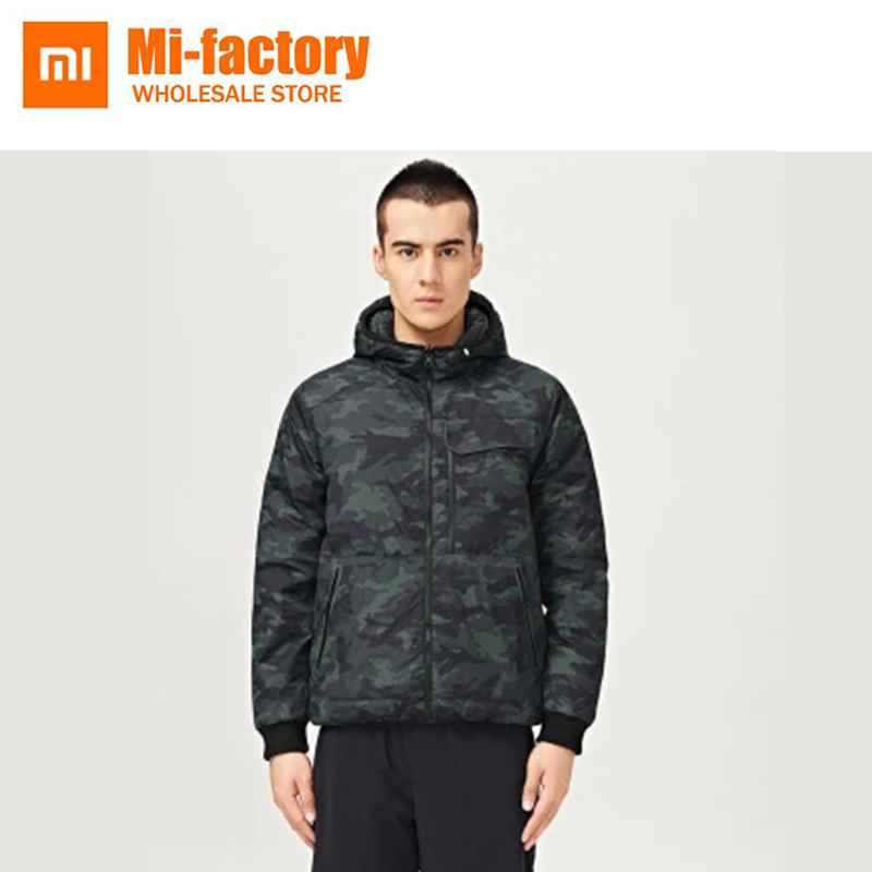 NEW Xiaomi Uleemark Waterproof Breathable YKK Zipper 90% Goose Feathers Men Double Side Down Jacket Special Camera Pocket вдохновение