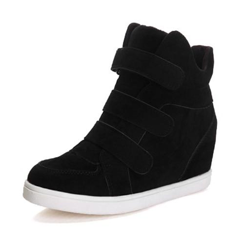 New Women flat shoes casual fashion shoes sneakers Black 4