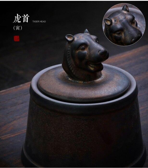 Прах питомца кремации держатель урны собака в память о кошке шкатулка животное на память о похоронах Hond 500 г большой емкости свинья лошадь OXCaskets - Цвет: Tiger Head